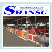 Máquina de extrusión de perfil plástico (PP/PE/polvo de PVC + madera)