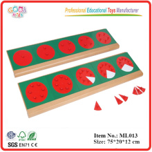 Montessori - Metal Fraction Circles with Stands
