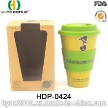 Coupe en fibre de bambou écologique et résistante à la chaleur (HDP-0424)