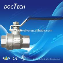 2-PC Inox / aço inoxidável flutuante válvula de esfera de luz tipo parafuso com preço do competidor e amostra para livre