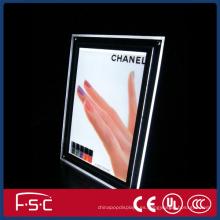Nuevo cristal de producto led display caja de luz