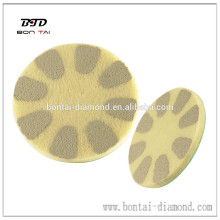 Puntas de pulido de fibra de diamante de mármol de alto brillo, pulido de granito