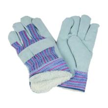 Kuh Split Handschuh, Streifen Polyster Arbeitshandschuh