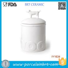 Heißer Verkauf einfache weiße Tierflasche Keramik Glas
