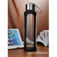 Free Heat-Resistant Sports Glass Water Bottle