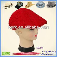 LSC50 Ningbo Lingshang 100% algodão exclusivo inverno promocionais chapéus e bonés