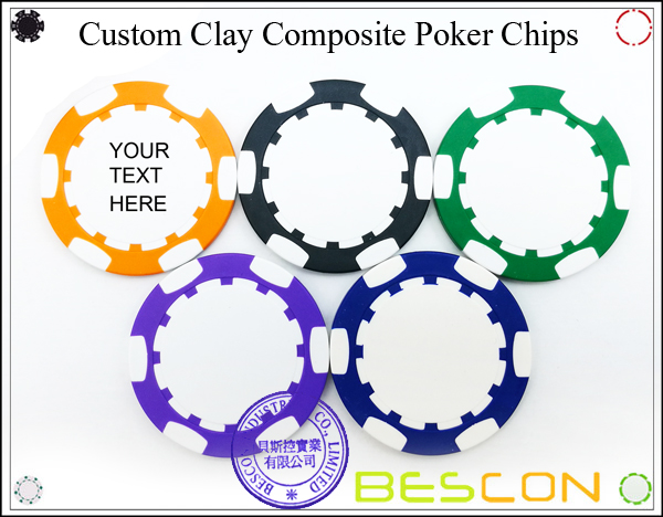Bescon New Style Clay Chip with Custom Sticker-9