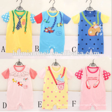 2017 Cheap Price Baby Onesie Jumpsuits Printed Baby Romper Cotton