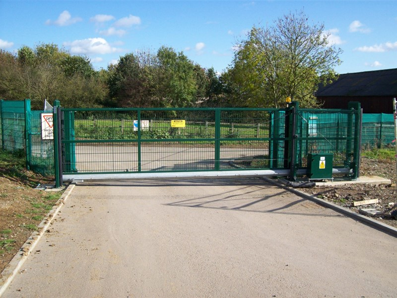 3d metal fence panels sliding gate