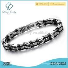 Bracelete gravado de venda superior, braceletes do aço inoxidável, bracelete da amizade