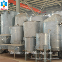 Flash evaporador, evaporador de filme fino para óleo, evaporador de óleo misturado na linha de extração de óleo de cozinha