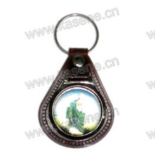 Factory Direct Selling Leather Jesus Keychain Religious Crafts