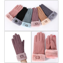 Warm gloves female outdoor touch screen gloves