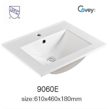 Sanitaires Lavabo de salle de bain Cabinet de lavabo en céramique avec cupc (A-9060E)