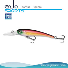 Angler Select Stick Bait Deep Diving Fishing Tackle Lure with Vmc Treble Hooks (SB0708)