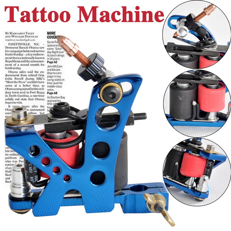 blue tattoo machine