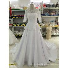 Aoliweiya бисера/жемчуг/стразы/Кристалл свадебные платья с 3/4 рукава