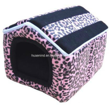 Pinky Eopard Grain Printing Lovely Pet House