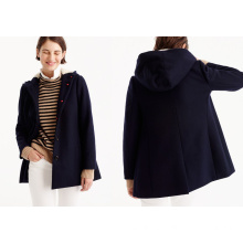 Swingy Peacoat in Italian Wool Melton Coat Jacket