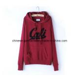 Fleece Wear Leisure Apparel for Women, Letter Printing Hoodie