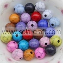 OEM Supplier for plastic pearl beads Fashion Opaque Crackle Acrylic Round Beads For Jewelry supply to San Marino Factories