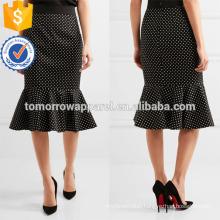 New Fashion Black Ruffled Polka Cotton Summer Mini Daily Skirt DEM/DOM Manufacture Wholesale Fashion Women Apparel (TA5021S)