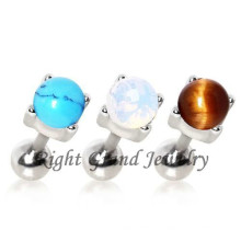 Crazy Piercing Turquoise Bead Wholesale Fake Piercing Tongue