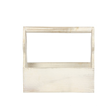 Rustic White Wood set of 2 wholesale wooden Crate Set for Carrying Small Milk bottles