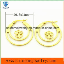 High Quality Fashion Gold Plated Stainless Steel Jewelry Earrings (ERS6916)