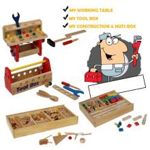 Brinquedo de madeira conjunto de ferramentas