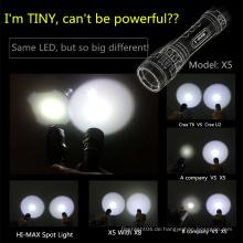 Großhandel Tauchausrüstung Hochleistungs-Fokus cool LED-Taschenlampen Fackeln