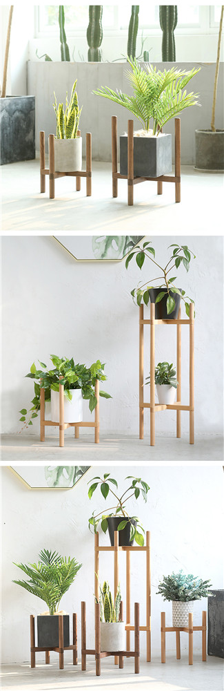 cheap wooden flowerpot shelf