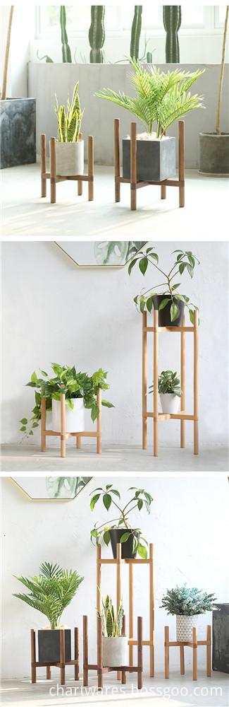 cheap wooden flowerpot shelf