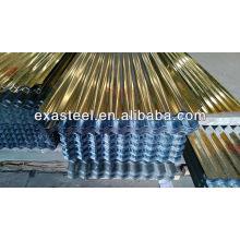 Material para techos tejados de baldosas tejas de acero galvanizado