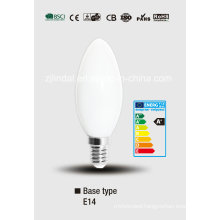 Full Glass LED Candle Bulb C37-Qb