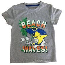 T-shirt do bebê da praia T-shirt do menino na roupa das crianças com qualidade confortável Sqt-609