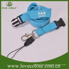 Llavero de seguridad azul con bucle de teléfono móvil