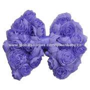 "4.5"" Chiffon Rose Bows"