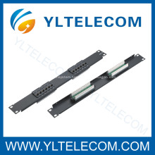 1U 19inch 12port Patch Panel Cat.5e and Cat.6 type