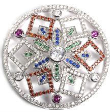 Fashion Micro Pave Fittings fivela fivela acessório para colar de jóias DIY