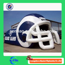 Professional large inflatable football helmet customized inflatable football helmet tunnel for sale