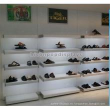 Knock Down Wall Mount 5 capas de iluminación de madera de estantería metal sellado venta al por menor de zapatos de tacón alto