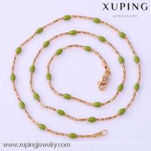 41719 -Xuping América estilo jóias contas vermelhas cadeia colar