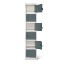Mini caixa de armários de metal de 6 camadas para funcionários