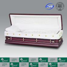 LUXES cercueils en ligne longévité-Lotus sculpté cercueil ouvert