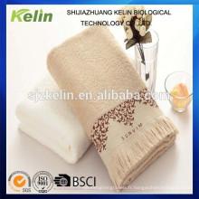 Serviette de bain éponge dobby éponge de couleur unie personnalisée avec dentelle de frange Serviette de bain / serviette de visage / serviette de plage / serviette de toilette;