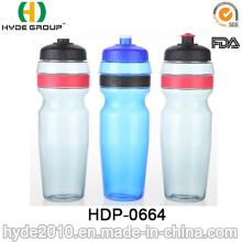 Botella de agua corriente plástica libre de BPA nuevamente que sube, botella de agua plástica del deporte del PE (HDP-0664)
