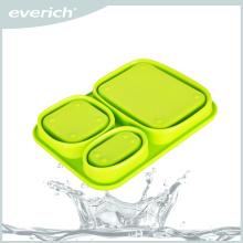 Récipient à emporter facile à emporter pour bac à lunch à base de silicone Bento
