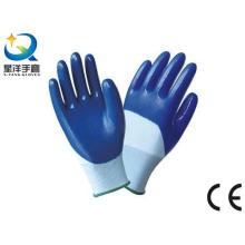 13G Polyester Shell mit Nitril 3/4 beschichteter Arbeitshandschuh (N7012)