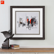 City Downtown Wall Art Handmade Abstract Painting